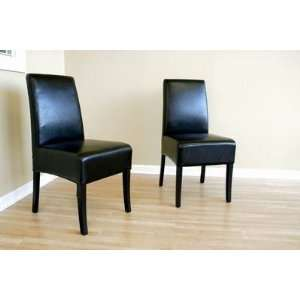 CHY 005 J023   Black Full Leather Dining Chair (Set of 4) Interiors