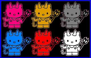 HELLO KITTY CAR DECAL DEVIL DECAL DEVIL KITTY DECAL