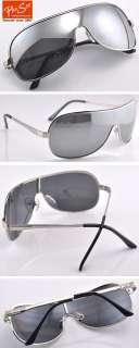 Top Design Mens Sunglasses Aviator Full Silver Mirror Lens UV400 C055