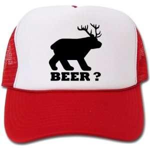 Beer ? Bear & Deer mixed truckers hat / cap: Everything