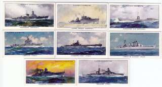 50 Warships Cards USA USSR Japan Germany United Kingdom France Italy