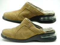 COLE HAAN Country Nike Air Brown Suede Fur Clogs Mules Shoes Womens 8
