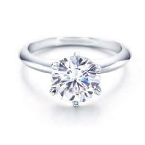 Bling Jewelry Round Cut CZ Engagement Ring 6 ct Solitaire Ring   Size