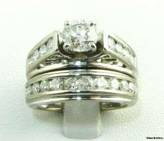 68ctw Genuine Diamond Engagement Wedding Ring Set   14k White Gold