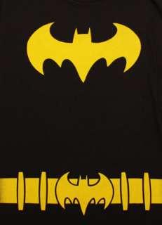 Batman Batgirl Costume Black Juniors Graphic Tee Shirt