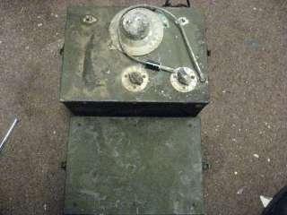 WWII Era U.S. Army Signal Corps Generator I 198 A Parts/Repair