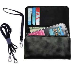 Black Purse Hand Bag Case for the Samsung Chat with both a hand