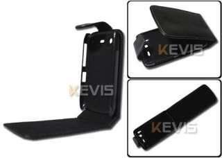 Black Leather Cover Case for HTC Desire S G12 S510E