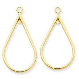 New Stunning 14k Gold Polished Dangle Earring Jackets
