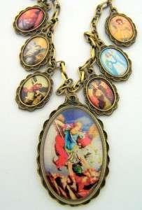 Saint St Michael Womens Lady Protect Necklace Pendant Jewelry Charm