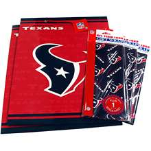 Pro Specialties Houston Texans Large Size Gift Bag & Wrapping Paper