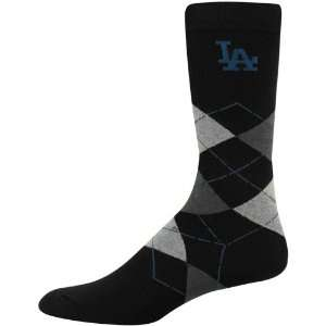 MLB L.A. Dodgers Black Argyle Dress Socks