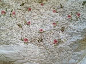 SHABBY COTTAGE FRENCH COUNTRY CHIC PINK ROSES KING ROMANTIC CHIC OMG