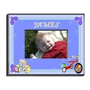 Personalized Boys Wood Block Frame Home & Kitchen