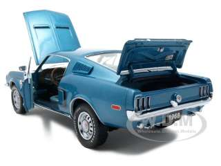 1968 FORD MUSTANG GT FASTBACK AQUA 1 of 1500 1:24