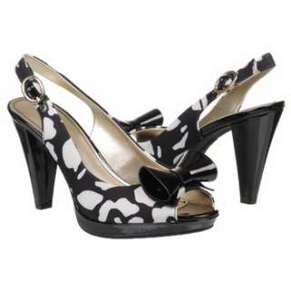 Womens AK Anne Klein Elong Black/White Floral Shoes