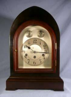 Antique Junghans Large Bracket Clock, Westminster Chime, Circa 1904
