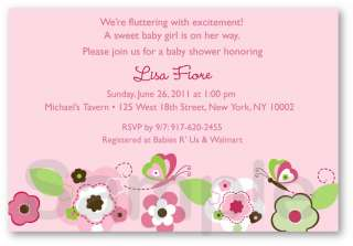 Bohemian Butterfly Baby Shower Invitation Printable