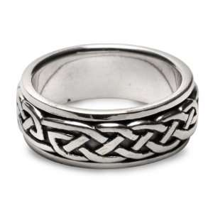 Celticweave Sterling Silver Spinner Ring   size 12