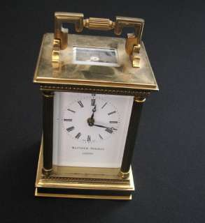 MATTHEW NORMAN LONDON CARRIAGE 8 DAY CLOCK WORK VG |