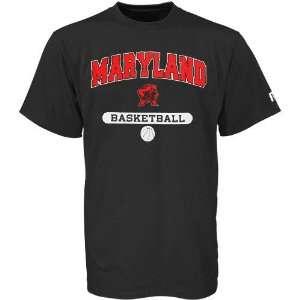 NCAA Russell Maryland Terrapins Black Basketball T shirt