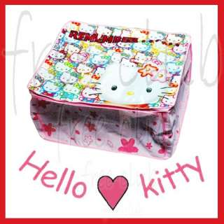 Hello Kitty Zipper Storage Bag Case Home Organizer
