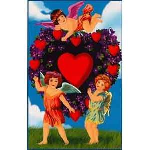 Valentines Day Greeting Card   Cherubs & Hearts Health