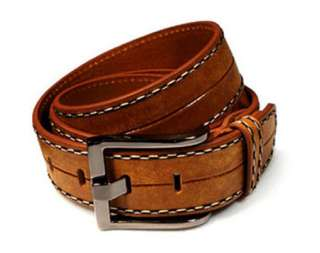 Mens/Womens Brown Genuine Leather Belt 30/32/34/36 Tan