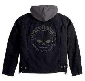 Harley Davidson Herren Skull 3in1 Cotton Canvas Jacke