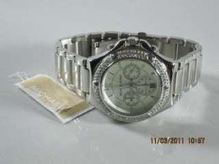 Michael Kors MK 5513 Womens Silver Glitz Swarovski Crystal Stainless
