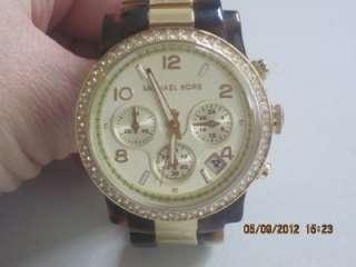 Michael Kors MK 5581 Womens Chronograph Goldtone Stainless Steel