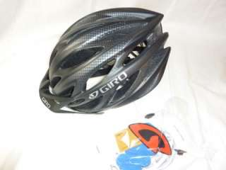 2012 giro athlon black charcoal bicycle helmet med new