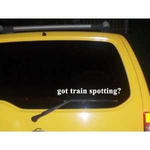 got train spotting? Funny decal sticker Brand New
