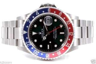Stainless Steel GMT Master II   Black Dial Pepsi Bezel 16710