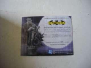 ArtFx Batman & Catwoman Porcelain Statue 680/2500 w/COA KC |