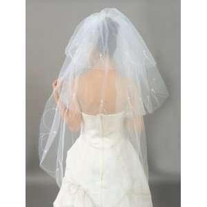 3T Pearl Fingertip Wedding Bridal Veil Ivory One Size