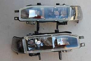90 93 Honda Accord 2/4 Door CB JDM Black Headlights w/ Black Corner