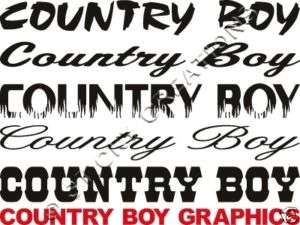 COUNTRY BOY Windshield Sticker Decal Graphic Window