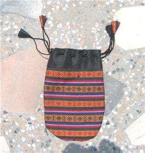 pur127 cotton big Coin Purse MALA BAG NEPAL TIBET
