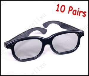 Plastic Frame Circular Polarized Lens 3D Glasses Movie Cinema Film
