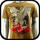 Couture T Shirt Tattoo Street Rock AR9 Sz XL Graffiti Heavy Metal Foil