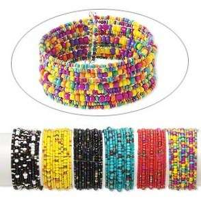 Wholesale 3* Colorful Handmade Seed Bead Cuff Bracelets