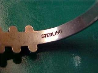 Vintage Native American Sterling Silver Turquoise Zuni Bracelet