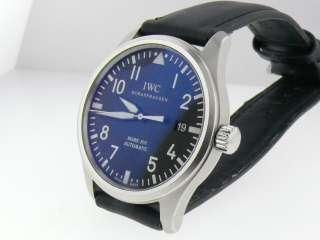 IWC Shaffhausen Mark XVI Automatic Date Steel Mens Black Dial Watch