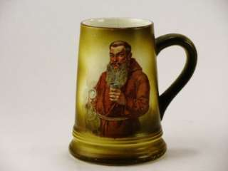 Columbian Art Pottery Friar Monk Drinking Mug / For Chicago World Fair
