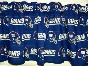 NFL NEW YORK GIANTS BLUE HELMETS LOGO 58 WIDE VALANCE