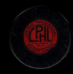 CPHL St Louis Braves Nestor Johnson Game Hockey Puck Check My Other