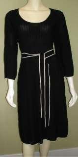 NWT ADRIANNA PAPELL Black Knit Belt Dress XL