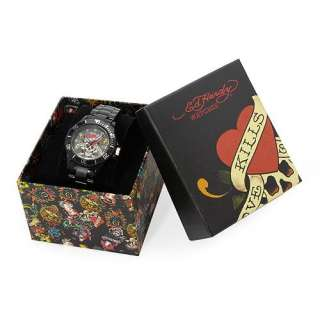 Brand New ED HARDY EHVP2BK Mens Watch Free US Shipping