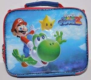 Wii Galaxy Mario Brothers LUNCH BAG /BOX YOSHI FLYING